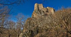Die Festungsanlage Chuluti oberhalb des Khrami